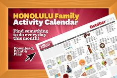 Honolulu family events calendar