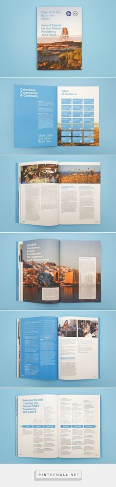 Council of the Baltic Sea States Annual Report on Behance - created via https://pinthemall.net