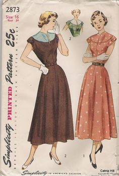 how lovely is that! vintage dress patterns