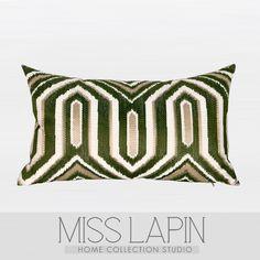 新古典/样板房家居软装设计师靠包抱枕/绿色古典几何图案绣花腰枕 /布艺-淘宝网