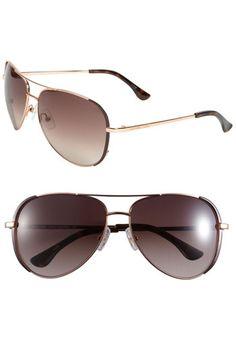 MICHAEL Michael Kors 'Sicily' 59mm Metal Aviator Sunglasses available at #Nordstrom