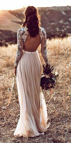 Lovely Lace Back Wedding Dresses ★ See more: Wedding Dress .- Lovely Lace Back Brautkleider ★ Siehe mehr: Brautkleid … Lovely Lace Back Wedding Dresses ★ See more: Wedding Dress … - Boho Wedding Dress With Sleeves, Boho Wedding Dress Bohemian, Western Wedding Dresses, Bridal Dresses, Wedding Gowns, Dresses Dresses, Boho Wedding Dress Backless, Hippie Wedding Dresses, Wedding Dress 2018