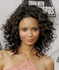 short naturally curly thick hair - Google Search
