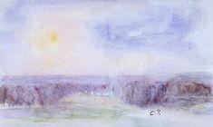Camille Pissarro - Landscape at Eragny, watercolor on paper