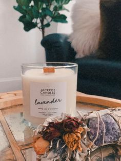 Friday relaxation in full effect! 🕯️ Did you know....Lavender works as an anxiolytic (anxiety reliever) as well as a sedative? It helps with relaxation, calming, and SLEEP! Lavender interacts with the neurotransmitter GABA to help quiet your brain & nervous system which in turn reduces agitation, anger, aggression, and restlessness. This is true for pets, too!  💜 Jewelry Candles, Candle Rings, Soy Candles, Candle Jars, Herbal Essences, Burning Candle, Nervous System, Calming, Body Care