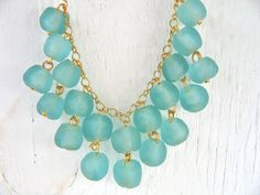 Recycled Glass Bead Bib Necklace by donidoni on Etsy, $55.00