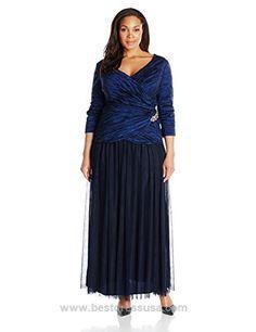 Alex Evenings Women's Plus-Size 3/4 Sleeve Taffeta Gown  http://www.bestdressusa.com/alex-evenings-womens-plus-size-34-sleeve-taffeta-gown/