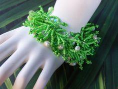 Lime in the Coconut... Handmade Jewelry Bracelet by Fanceethat, $48.00