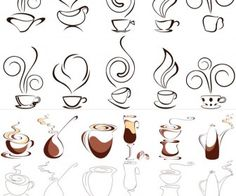 Coffee design set vector. 3 sets with different vector coffee design elements (coffee labels, card templates, coffee cups, coffee beans) for your graphic works (can be used for menu designs). Format: EPS stock vector clip art. Free for download. Theme:…