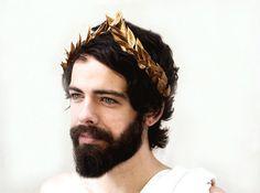 Men's Gold Leaf Headband Greek Gold Leaf Laurel Bay | Etsy
