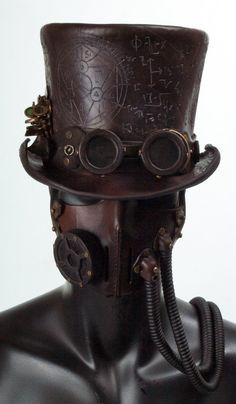 This looks cool might try to make it for Halloween   Steampunk Leather Tophat by ~Valimaa on deviantART