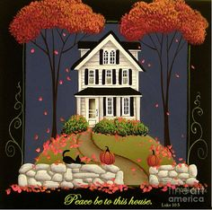 Peace Be To This House Painting by Catherine Holman
