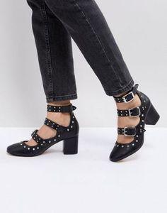 831134ff08e ASOS TOUGAN Studded Mid Heeled Shoes at asos.com