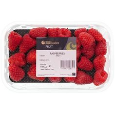 Ocado Exclusive British Tulameen Raspberries (14 ILS) ❤ liked on Polyvore featuring food, fillers, food and drink, food & drinks, comida and backgrounds