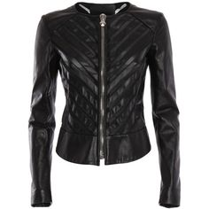 Philipp Plein Leather jacket (15.435 DKK) ❤ liked on Polyvore featuring outerwear, jackets, leather jacket, philipp plein jacket, 100 leather jacket, real leather jacket and genuine leather jacket