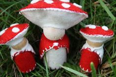 """Toadstool People"" ~ also ""Flower Children"", & ""Root Children""....Loads of neat stuff on this site!"