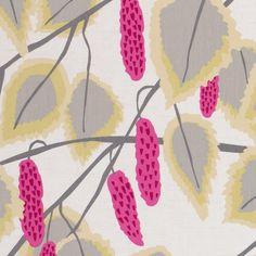 Cannes Summer Curtain Fabric - Clarke And Clarke La Vie En Rose Lotus Design, Floral Design, Buy Fabric, Cotton Fabric, Clarke And Clarke Fabric, Contemporary Fabric, Made To Measure Curtains, Purple Fabric, Curtain Fabric