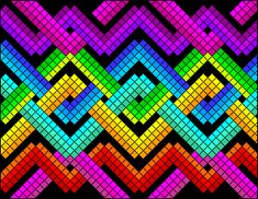 Square Patterns, Loom Patterns, Cross Stitch Patterns, Bargello Quilt Patterns, Bargello Quilts, Graph Paper Drawings, Graph Paper Art, Modele Pixel Art, Pixel Drawing
