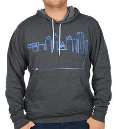 Show off your Detroit pride with our NEW unisex, pullover hoodie! Soft interior with an exterior design that is sure to make you stand out in the crowds.  #OutlineTheSky #RepYourCity #CoverTheCountry #DetroitSkyline