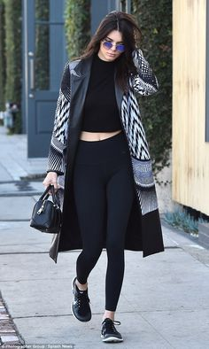 Supermodel spotted: Kendall Jenner, 20,stepped out in West Hollywood on Tuesday and headed to Cafe Alfred