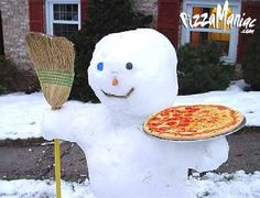 Pizza Snowman