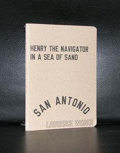Lawrence Weiner # SEA OF SAND # 750 cps, mint