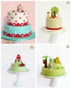 cute kids cakes #ideas #inspiration #birthday #party #ideias #inspiracao #festa #aniversario #infantil #decoracao #bolo #cake #cakedesign #safari #kids
