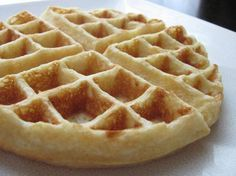 """The Best Ever Waffles: """"These were amazing! I also added just a bit of vanilla to the mix and they smelled incredible while cooking. Best recipe I have tried for waffles yet!"""" -Erin K. Brown (uses of baking powder egg whites) Easy Waffle Recipe, Waffle Recipes, Top Recipes, Family Recipes, National Waffle Day, Waffles, Oatmeal Pancakes, Fluffy Pancakes, Pancake"""