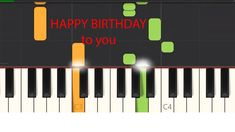 """How to play """"Happy Birthday To You"""" song for Beginners Piano Songs For Beginners, Easy Piano Songs, Song Play, Happy Birthday, Learning, Happy Brithday, Easy Songs For Piano, Urari La Multi Ani, Studying"""