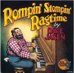 Robert Crumb - Rompin' Stompin' Ragtime by Dave Jasen Robert Crumb, Fritz The Cat, Alternative Comics, Cool Album Covers, Pochette Album, Bd Comics, Jazz Blues, Album Design, Art Graphique