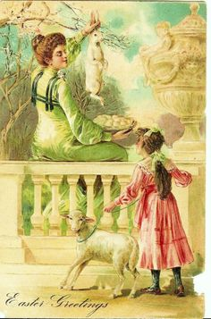 Image detail for -Wordless Wednesday with Vintage Postcards: Easter Greetings | d kay s ...