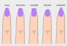 Nail shape guide