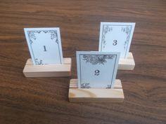 Hochzeitsdeko - 10 Tischkartenhalter aus Holz , Platz-Kartenhalter - ein Designerstück von woodpeckerlg bei DaWanda