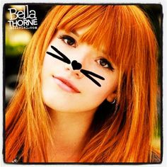 Bella Thorne....cute idea for Halloween, since cat is the fall-back, go-to costume lol