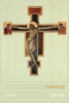 Cimabue, Crucifix (Basilica Santa Croce, Firenze), 1287–88Let's have a look at the beautiful Cimabue's Crucifix painted for and still held in Basilica di Santa Croce in breathtaking Florence. Tomorrow we'll have Giotto's death anniversary and since we don't know the exact date of birth/death of his master, Cimabue, we can celebrate his great works today. Because… why not today?