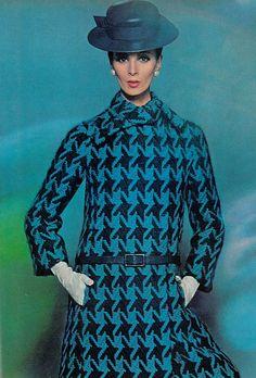 Wilhelmina, coat by Dior, Photo by Bert Stern for Vogue 1965