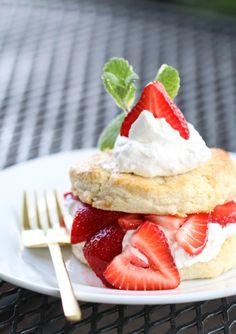 White Chocolate Strawberry Shortcake from @Michael Dussert Dussert Wurm, Jr. | inspiredbycharm.com via @Gayle Robertson Roberts Merry Homes and Gardens