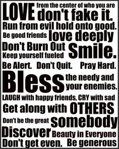 God's Rules (Romans 12: 9-21)