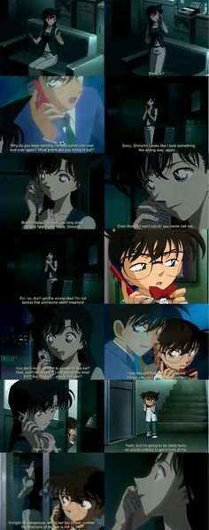 ✖ @CharmingMystery ✖ Episode 400 Shinichi gives Ran his number because she misses him so bad <3