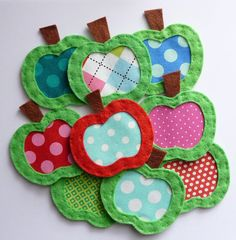 sew :: felt & fabric apples