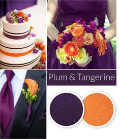 Color Crush: Purple and Orange | Orange wedding colors, Crushes and ...