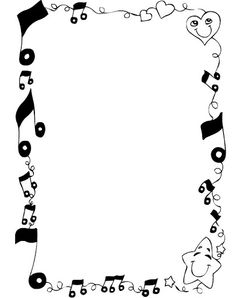 Album Archive - Blanco y Negro 4 Music Border, Boarders And Frames, Doodle Characters, Kids Math Worksheets, Page Borders, Music Paper, Borders For Paper, Music Images, Paper Frames