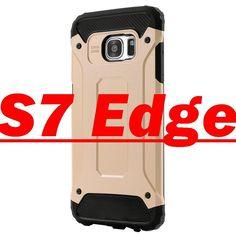FLOVEME Soft Silicone+Hard PC Dual Layer Armor Case For Samsung Galaxy S7 Edge Hybrid Slim Back Cover Phone for Samsung S 7 Edge