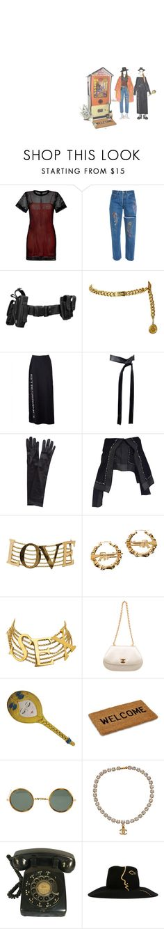 """""""who dropped their weed money?"""" by acid-angels ❤ liked on Polyvore featuring Sandro, Chanel, Moschino, Michael Kors, John Lewis, Junya Watanabe, Dolce&Gabbana, Melody Ehsani, Ray-Ban and Céline Robert"""