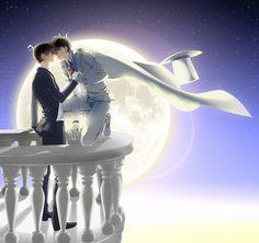 Anime Yaoi Fanart - Lưu Trữ - Conan / Magic Kaito: Kaito x Shinichi Anime Couple Kiss, Anime Couples, Manga Boy, Manga Anime, Detective, Manhwa, Conan Comics, Kaito Kuroba, Kaito Kid