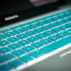 (215) Fancy - Turquoise Apple Keyboard Cover