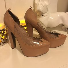 Jeffery Campbell Hillary Nude Sky High Pumps Gorgeous nude heels, size 9.5 light used with a few signs of wear but nothing very noticeable . Also when I purchased these didn't come with ankle straps. No trades no PayPal Jeffrey Campbell Shoes Heels
