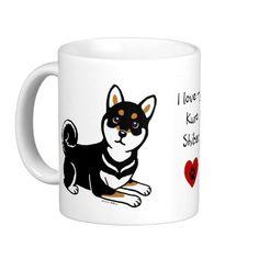 Kuro Shiba Inu dog cartoon Classic White Coffee Mug