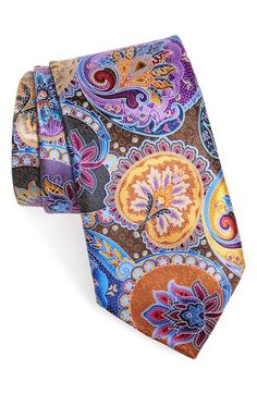 Ermenegildo Zegna 'Venticinque' Paisley Silk Tie available at #Nordstrom