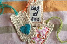 Crocheted tag tutorial